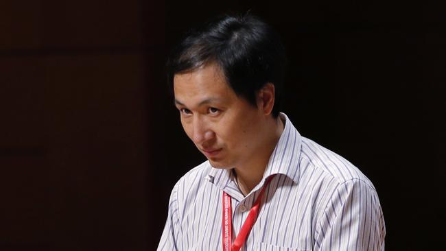 He Jiankui, the Chinese researcher, speaks during the Human Genome Editing Conference in Hong Kong, Wednesday, Nov. 28, 2018. He made his first public comments about his claim to have helped make the world's first gene-edited babies. Picture: Kin Cheung