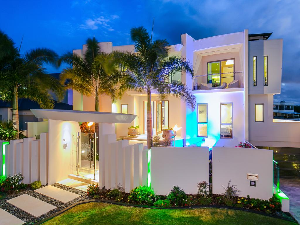 "<span class=""h2"">SOVEREIGN ISLANDS </span>50 King Charles Drive, Sovereign Islands PRICE: $4.5 million SOLD: April 8, 2015 AGENT: Amir Mian, who was with Ray White Sovereign Islands at the time of the sale LUXURIOUS and stylish — this architect-designed home is surely one of The Sovereign Islands' finest mansions. It was designed by Mark Hudson and built by Alan Marks. Interesting features include curved rosewood bi-fold doors, iron bark timber floors and the use of smart lighting to illuminate the exterior at night. Inside are cream marble tiles while outside sandstone tiles line an alfresco dining area. Other features include five ensuited bedrooms with private balconies, a gym, games room, and media room. There is also a 17m tiled lap pool outside as well as two wading pools."