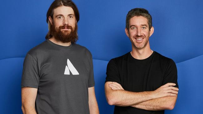 Founders and co-CEOs Mike Cannon-Brookes and Scott Farquhar.
