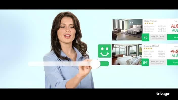Trivago girl shows you how to find your ideal hotel for the best rate