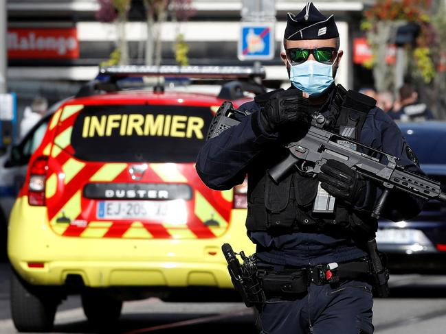 Emergency services and police on the scene. Picture: Eric Gaillard/Reuters