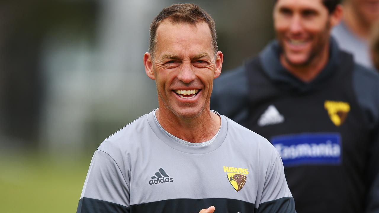 Could Alastair Clarkson join Jock McHale, Norm Smith, Frank Hughes and John Worrall as the only men to win five VFL/AFL premierships as a coach? (Photo by Michael Dodge/Getty Images)