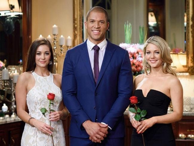 The Bachelor's Lisa Hyde, Blake Garvey and Sam Frost.