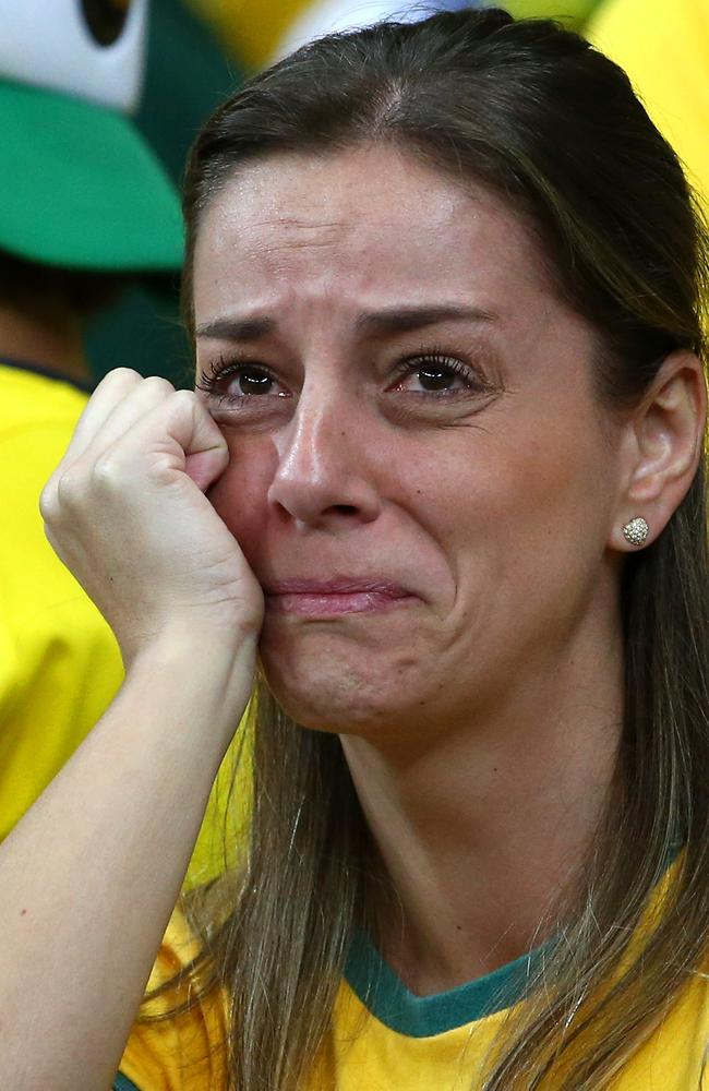 This is the general mood of Brazil's fans.