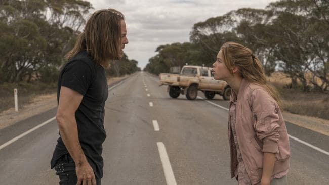 Tim Minchin and Milly Alcock make an unlikely pair of travelling companions in Upright
