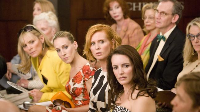 Kim Cattrall, Sarah Jessica Parker, Cynthia Nixon and Kristin Davis in Sex and the City: The Movie.