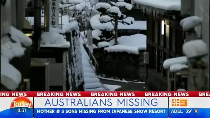 Australian mother and three sons missing at Japan ski resort