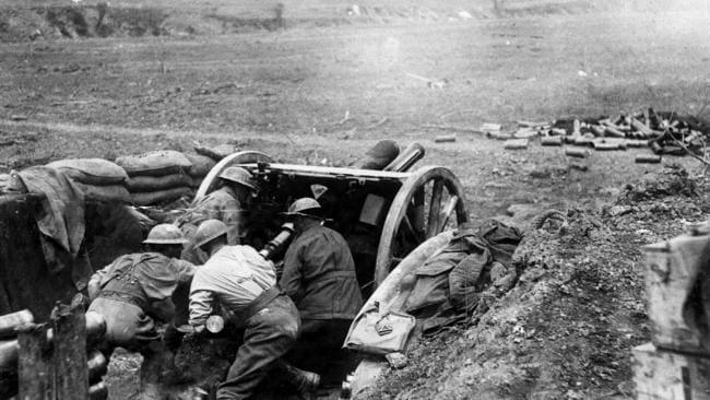 Australians during the battle for Bullecourt. Picture: Australian War Memorial