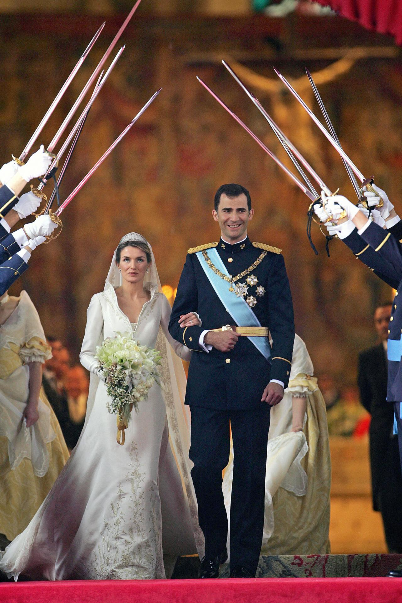 Inside Prince Felipe and Letizia Ortiz Rocasolano's 2004 wedding