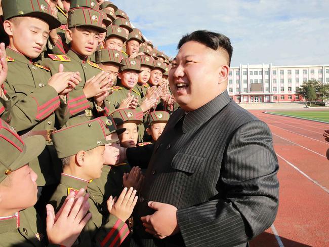 Kim Jong-un's weapons program has rattled Japan. Picture: AFP/KCNA via KNS