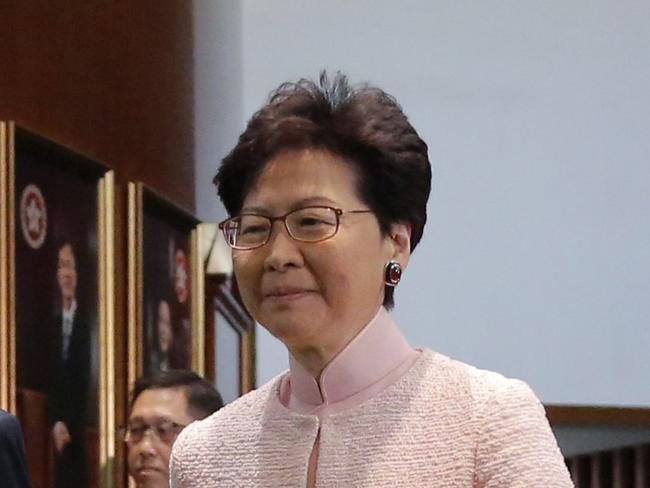 Hong Kong Chief Executive Carrie Lam. Picture: AP