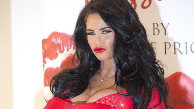 Big changes ... Katie Price has ditched her fake books and hair extensions in favour of a more natural look. Picture: AP