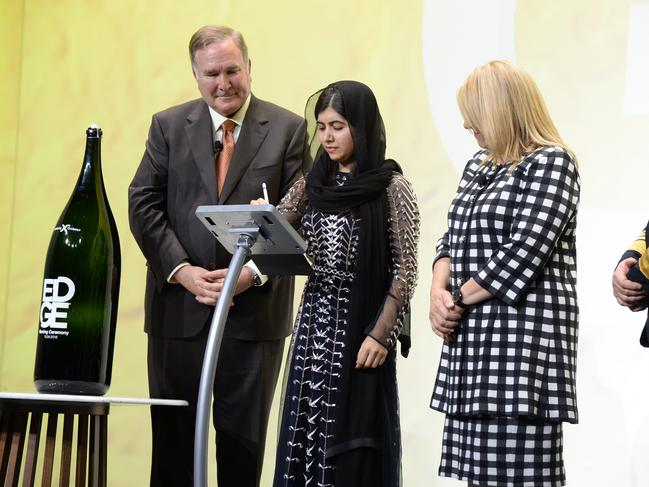 The Naming Ceremony on Celebrity Edge with Malala Yousafzai as her godmother. Picture: Tim Aylen.