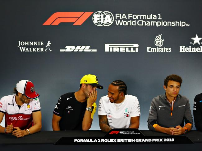 Daniel Ricciardo was holding court in the British Grand Prix press conference.