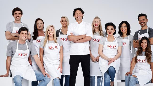 Colin Fassnidge's team on MKR. Picture: Channel 7