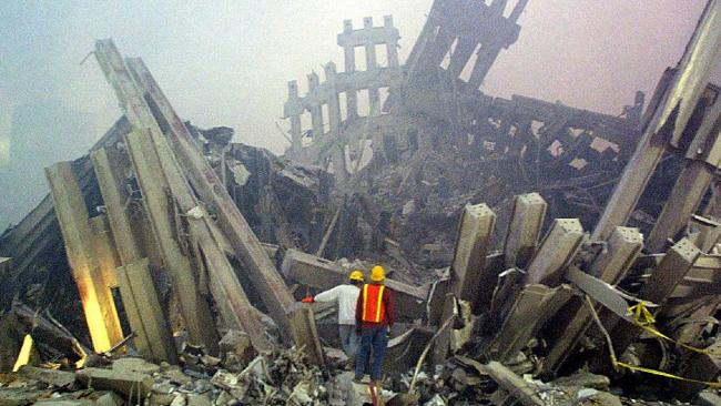 The remains of the World Trade Centre.