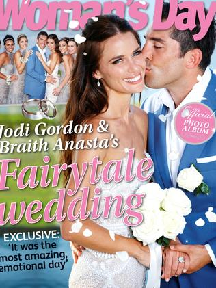 The glamorous couple's wedding made the cover of Woman's Day magazine.