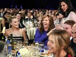 Margot Robbie, Allison Janney and host Olivia Munn attend The 23rd Annual Critics' Choice Awards at Barker Hangar on January 11, 2018 in Santa Monica, California. Picture: Getty