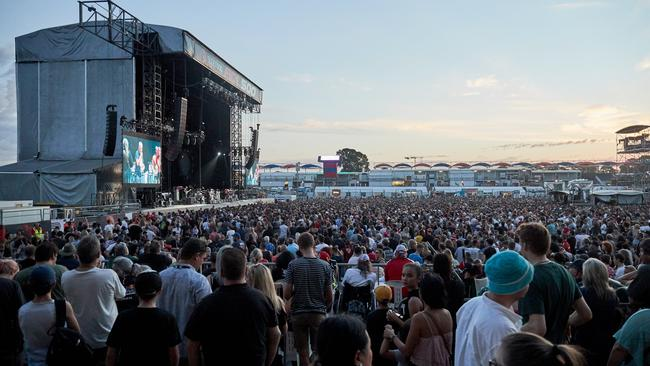 Crowd awaiting the Red Hot Chili Peppers concert at the Superloop Adelaide 500 last weekend. Picture: Matt Loxton