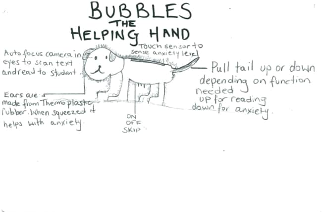 Nikolas came up with Bubbles to help kids with anxiety.