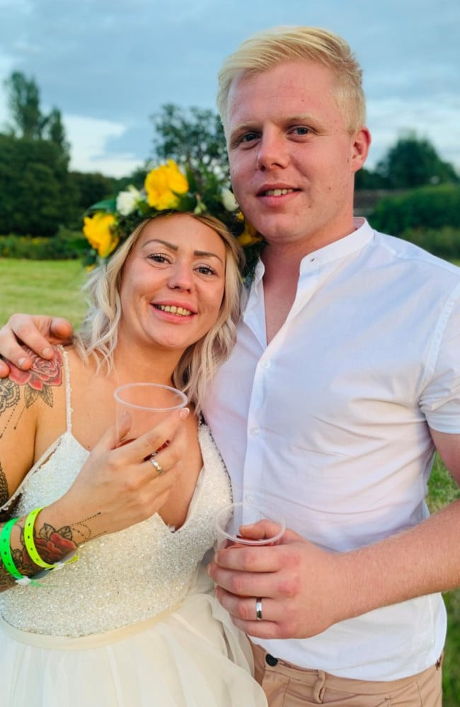 Fortunately for Jake, Rosie ended up enjoying her 'festival' wedding, Picture: Don't Tell The Bride