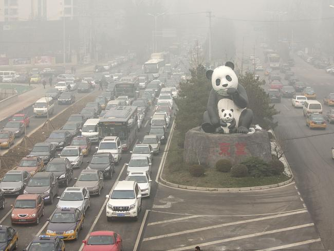 Air pollution has reached hazardous levels in Beijing, China. Diesel contributes more to air pollution than petrol-powered engines. Photographer: Qilai Shen/Bloomberg