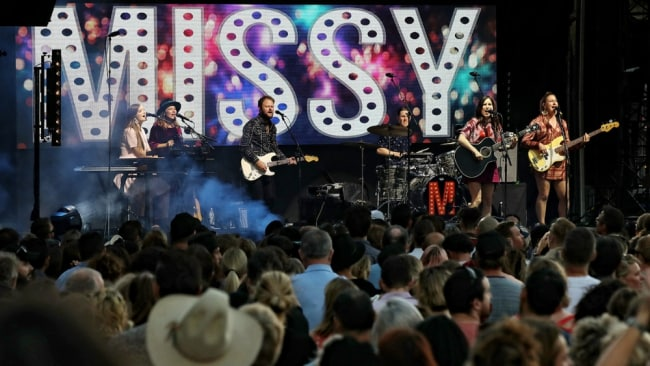 This was the Sydney Opera House Forecourt debut for both John Butler Trio and Missy Higgins. Image: Prudence Upton