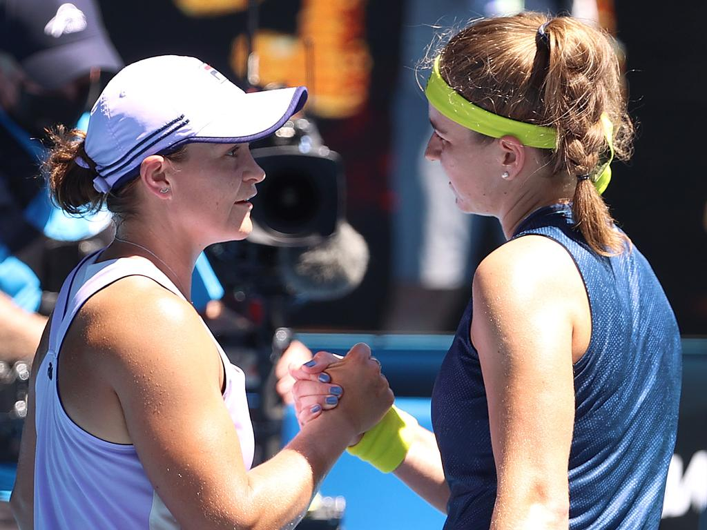 Karolina Muchova was too much for Ash Barty. Pic: Michael Klein