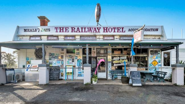 The Railway Hotel is up for sale.