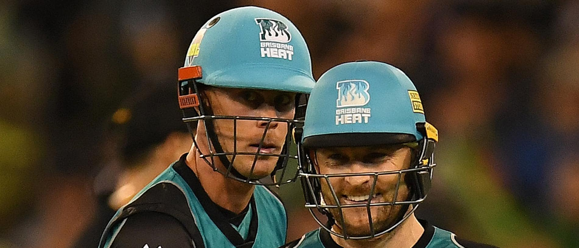 Chris Lynn (left) and Brendon McCullum of the Heat are seen after McCullum was dismissed during the the Big Bash League cricket match between the Melbourne Stars and the Brisbane Heat at the MCG in Melbourne, Tuesday, January 2, 2018. (AAP Image/Julian Smith) NO ARCHIVING, EDITORIAL USE ONLY, IMAGES TO BE USED FOR NEWS REPORTING PURPOSES ONLY, NO COMMERCIAL USE WHATSOEVER, NO USE IN BOOKS WITHOUT PRIOR WRITTEN CONSENT FROM AAP