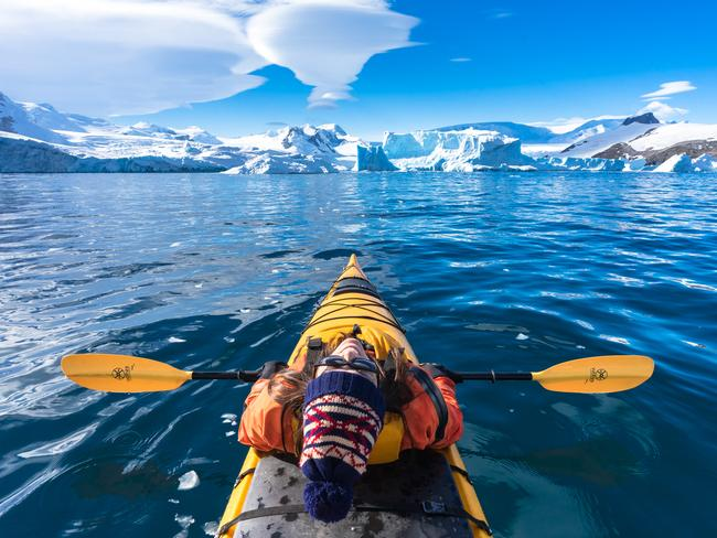 Notice how tiny the mountains in the Antarctic Peninsula look in the background in this photo. Focal length on the lens was 16mm. Picture: Nomadasaurus