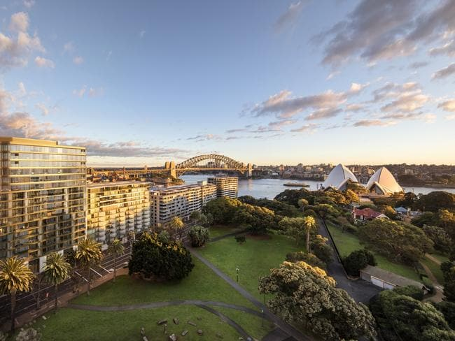 Views from the penthouse in Bennelong Point.