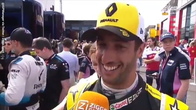 Daniel Ricciardo 'forgets' he was racing Romain Grosjean