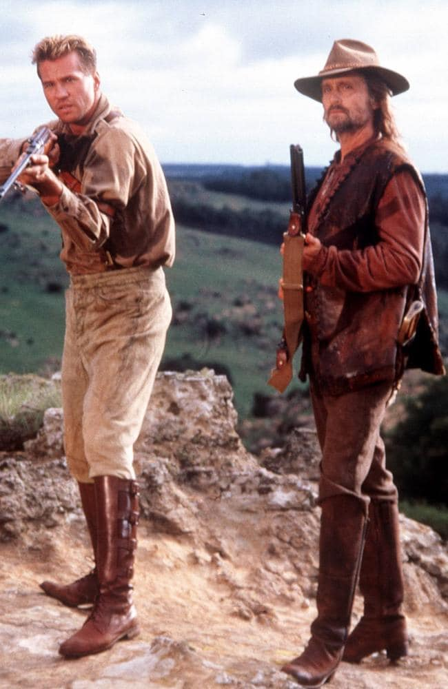 Val Kilmer (left) and Michael Douglas in 1996 film The Ghost & The Darkness. Picture: Handout
