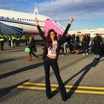 """Sara Sampaio departs for Paris for the 2016 Victoria's Secret Fashion Show on November 27, 2016 in New York City ... """"And we are off to Paris."""" Picture: Instagram"""