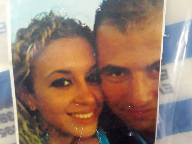 A photograph of Sabrina Kouider and Ouissem Medouni taken when they first met. Picture: AFP