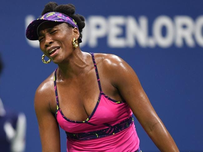 Venus Williams was blown off the court by her younger sister. Picture: AFP