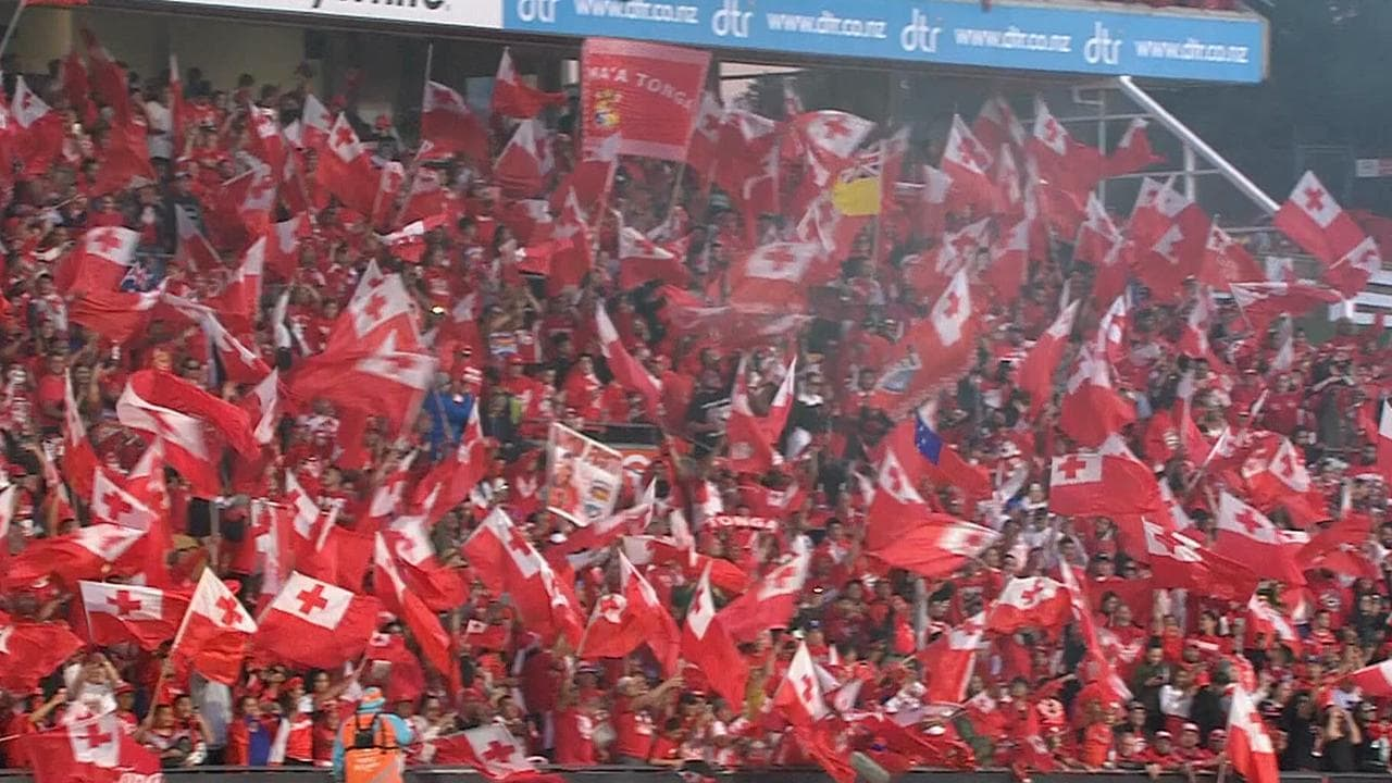 The crowd was 99 per cent full of Tongan supporters. .