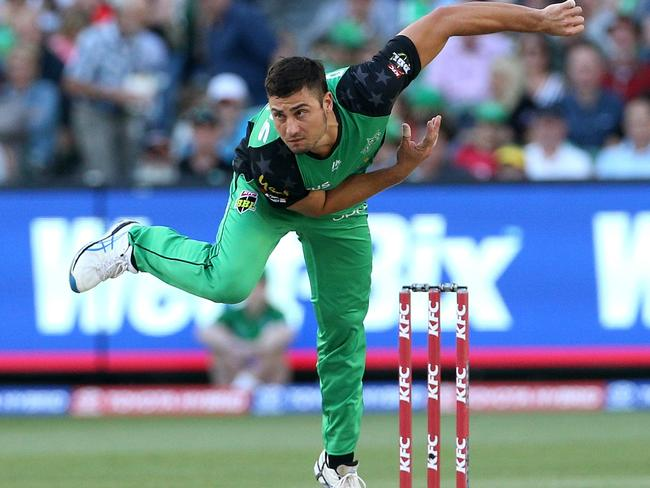 Marcus Stoinis took the wicket of Harvey and Lehman said he changed the match.