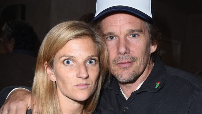 Ethan Hawke and his second wife Ryan. (Photo by Vivien Killilea/Getty Images)