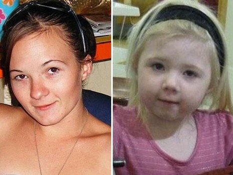Karlie Pearce-Stevenson, 20, and her daughter Khandalyce, 2, were murdered by Daniel Holdom and dumped in different states more than 1000km apart. Picture: Facebook