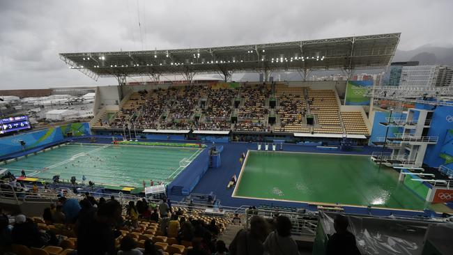 The green diving pool in Rio, which has now been fixed.