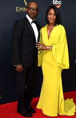 Courtney B. Vance and Angela Bassett attend the 68th Annual Primetime Emmy Awards on September 18, 2016 in Los Angeles, California. Picture: AP