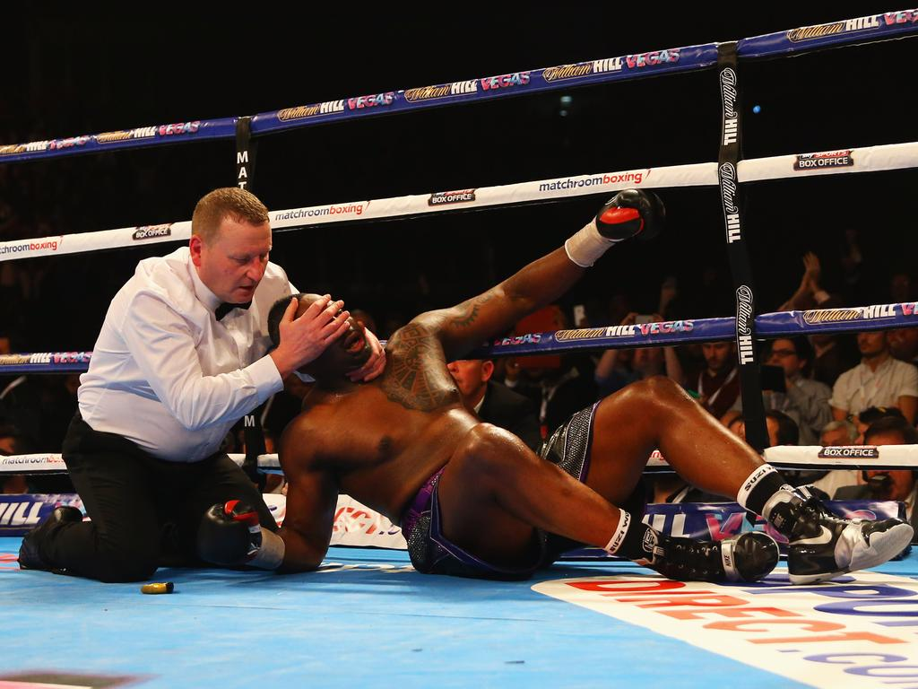 Dillian Whyte was stopped by Anthony Joshua in 2015.