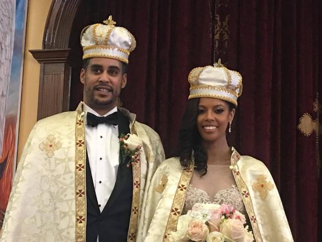 Ariana Austin married into the royal family of Ethiopia after meeting Joel Makonnen at a nightclub Picture: Facebook/Joel D Makonnen