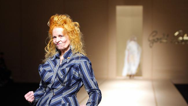 Vivienne Westwood at the Spring/Summer 2008 ready-to-wear show in Paris. Picture: Getty Images