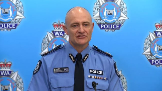 Assistant Commissioner Paul Steel speaks to the media about the girls' deaths. Picture: Supplied