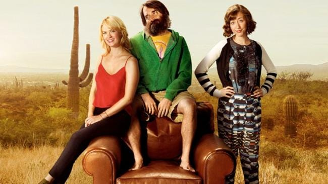 All alone ... January Jones, Will Forte and Kristen Schaal star in comedy series The Last Man On Earth. Picture: Supplied