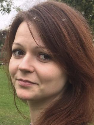 Yulia Skripal fell ill after eating out with her father. Picture: AFP