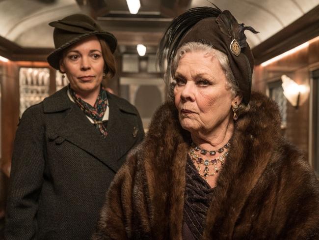Olivia Colman and Judi Dench 'Murder on the Orient Express'. Photo: Twentieth Century Fox
